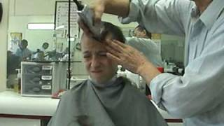Kid Gets His Head Shaved