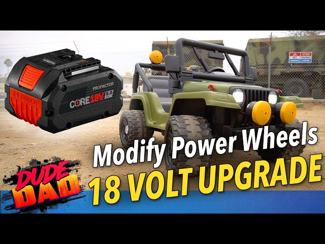 EASY - How To Modify 12 Volt Power Wheels To 18 Volt power tools battery. Jeep 18 Volt Upgrade