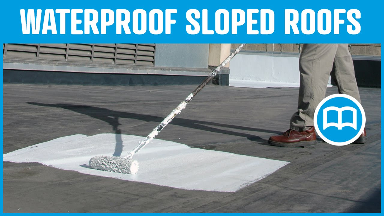 Waterproof roof, Prevent water infiltration through roof, cracks,applies  like a paint