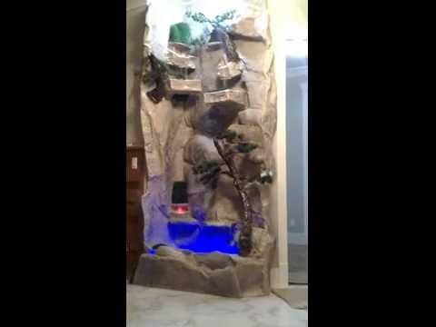Indoor Bar Waterfall - Rock, Metal, Slate, Tile, Acrylic,