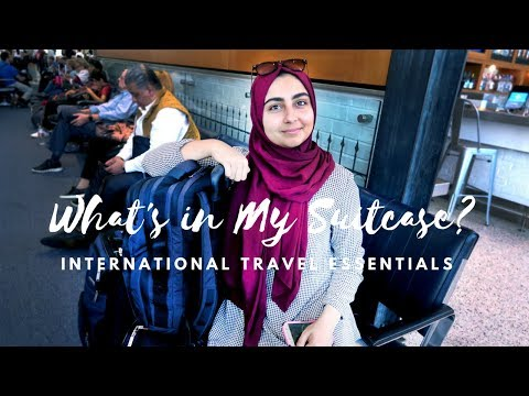 WHAT'S IN MY SUITCASE & CARRY-ON - INTERNATIONAL TRAVEL ESSENTIALS - MUSLIM TRAVEL HACKS