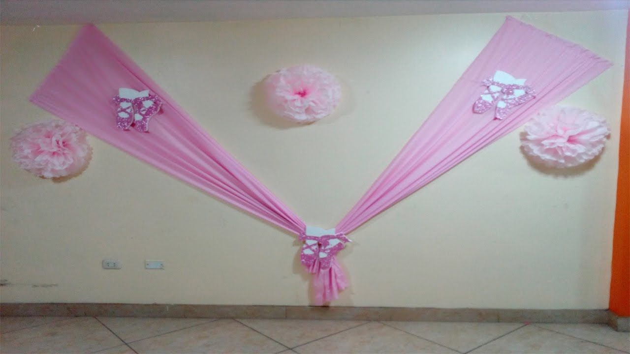 Decoraci n de telas para eventos muy facil youtube - Decorar paredes facil ...