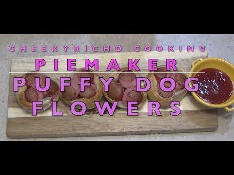 Puffy Dog Flowers 2 Ingredient Pie Maker Cheekyricho Cooking Video Recipe. Ep.1,273