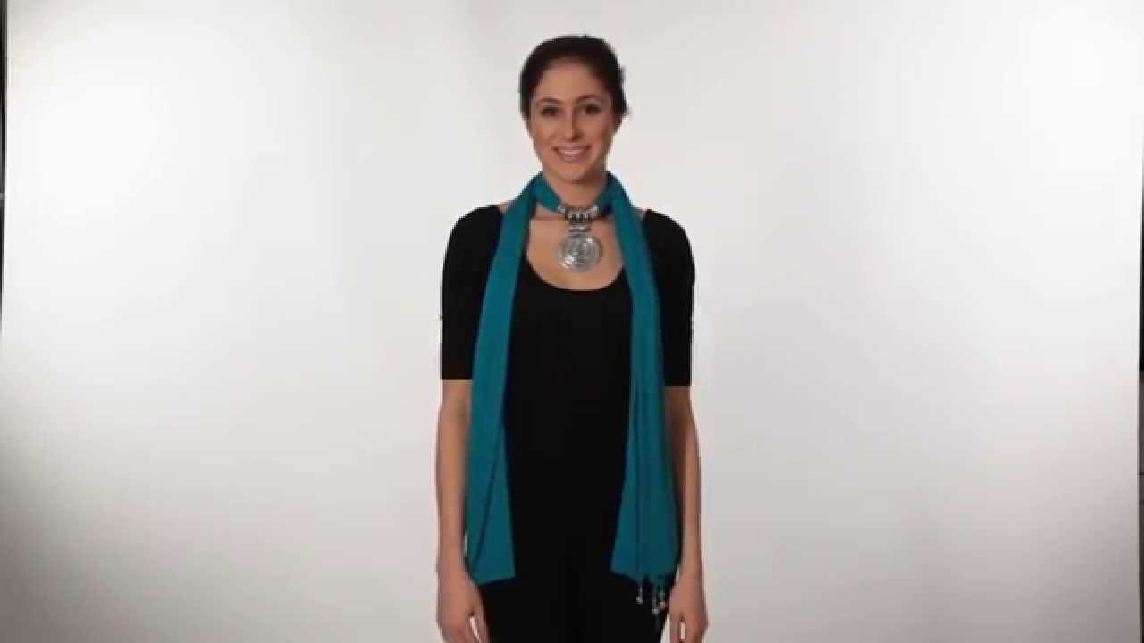 How to wear your jewellery scarf - YouTube