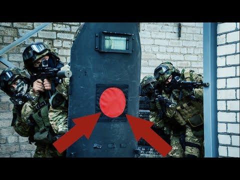 Зачем на щиты Спецназа наносят Красный круг