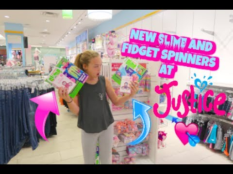 NEW SLIME AND FIDGET SPINNERS AT JUSTICE!! SHOPPING SPREE AT JUSTICE! MALL VLOG - YouTube
