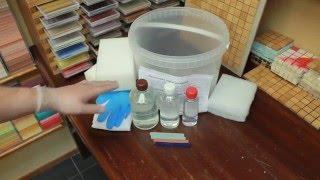 Комплект очистки эпоксидной затирки. Очиститель смывка затирки(Удобный комплект для работы по очистки свежей, только что нанесенной на плитку эпоксидной затирки. В компле..., 2016-04-22T14:47:17.000Z)