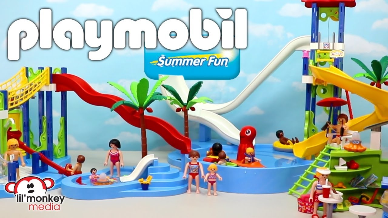 Superior Playmobil Pool Slide Playset With Sea Animals Fun Toy Video For Kids