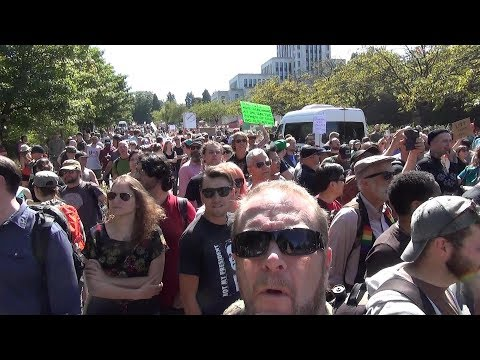 Vancouver Protest Rally Against Anti Immigration Racism 2017