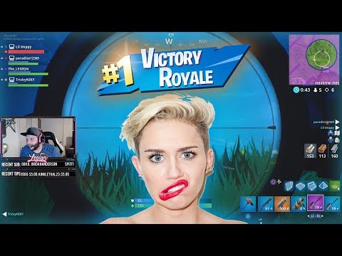 MILEY CYRUS = FORTNITE VICTORIES | REAL LIFE INFINITE DAB!