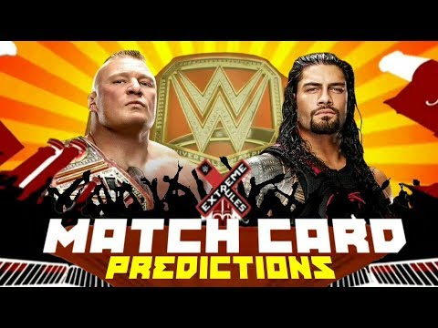 WWE Extreme Rules 2018 Match Card PREDICTIONS!