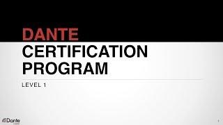 Dante программа сертификации уровень 1: #1 О компании Audinate - Основы работы с цифровым аудио
