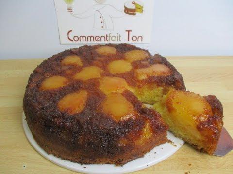 comment-faire-un-gâteau-renversé-aux-poires-caramélisées-très-facilement?