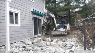 Download 331 Bobcat Excavator Demolishing Concrete Patio Mp3 and Videos