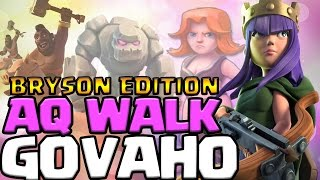3 Star Series: Epic AQ Walk TH9 GOVAHO Attack Strategy - BRYSON FTW | Clash of Clans