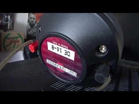 How work B&C Horn speaker DE16-8 made in Italy