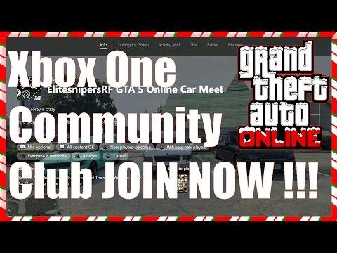 GTA 5 Online Car Meet Xbox One Community Club JOIN NOW