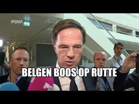 Belgen boos op Rutte