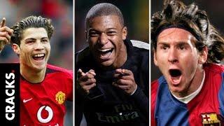 Messi y Cristiano a los 19 años vs Kylian Mbappé