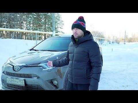 Пробую на  Rav 4 по снегу