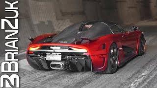 6 Koenigseggs Blast Through Tunnel