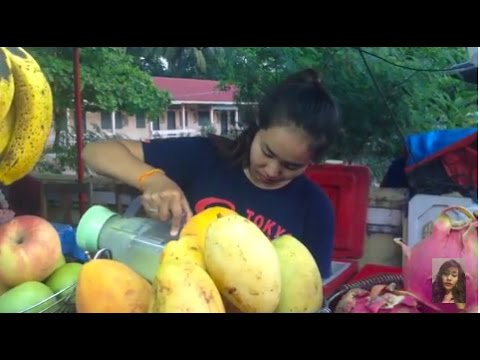 Fresh fruits and foods in Lao (country), Lao street food, Asian food