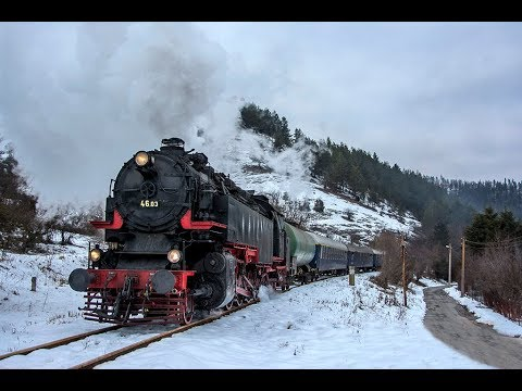 BDZ 46.03 steam monster in Sofia - Gueshevo route