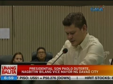 UB: Presidential son Paolo Duterte, nagbitiw bilang Vice Mayor ng Davao City