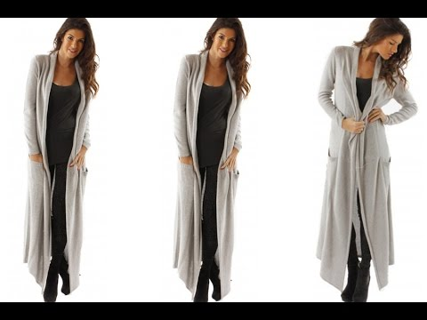 DIY How To Make A Maxi Cardigan (Easy Sewing) - YouTube