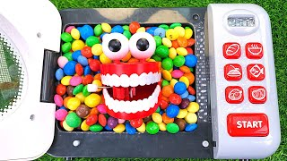 Oddly Satisfying Video l Candy Mixing in Microwave with M&M's & Magic Milk Bottle Slime Cutting ASMR