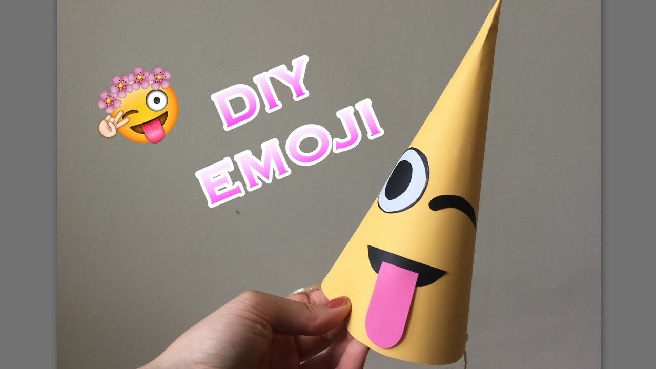 Diy Emoji Party Hat Craft How To Make Craft Tutorial