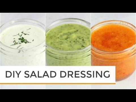 3 Homemade Salad Dressing Recipes | Healthy + Easy