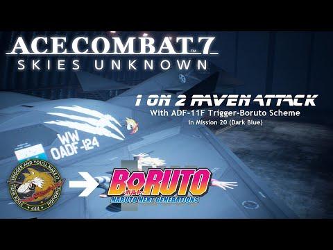Dark Blue (Ace Combat 7): Human Raven VS 2 AI Ravens In Trigger-Boruto Scheme