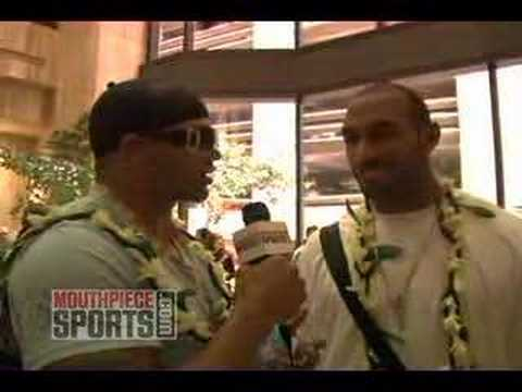 Quick Hits at the Pro Bowl with Brendon Ayanbadejo and Julian Peterson-Part 1