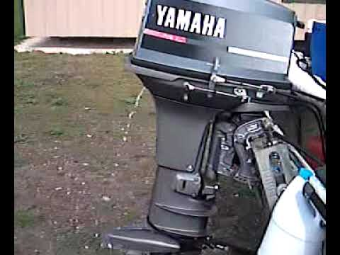 Yamaha 40hp 2 stroke cold start youtube for 25hp yamaha 2 stroke