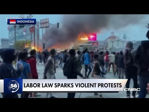 Around the World: Barcelona drug bust and violent protests in Southeast Asia & more