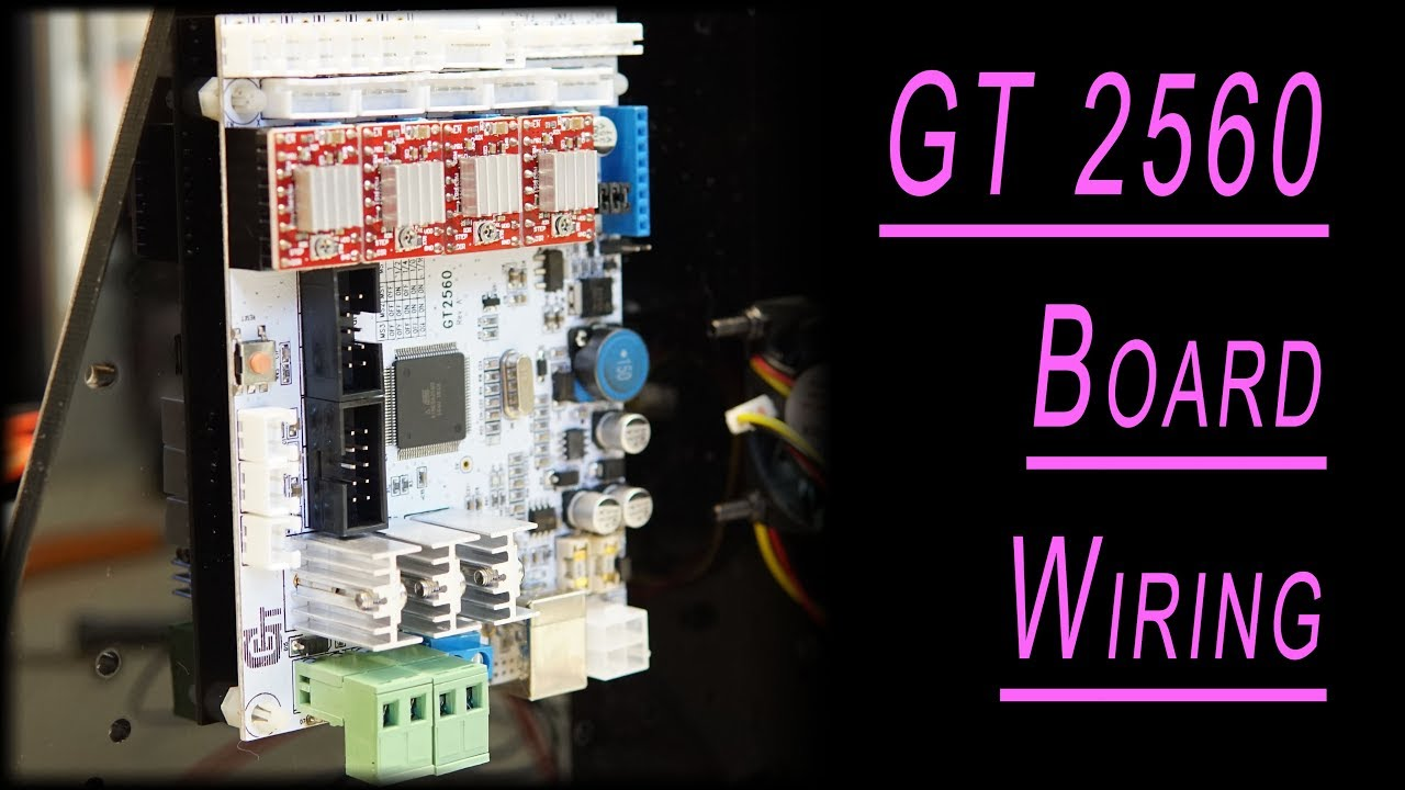 GT 2560 board    wiring       diagram     geeetech i3 pro b 3d printer connection plan  YouTube