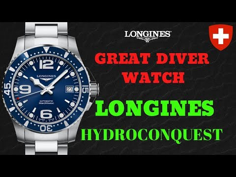 Longines HydroConquest Blue Diver Men's Watch (Full Review)