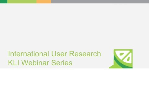 Key Lime Interactive's International User Research Webinar