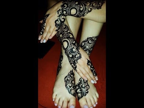 Beautiful Sudanese Henna Designs On Hands And Feet Youtube