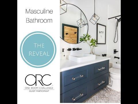Masculine Bathroom Design: One Room Challenge Fall 2018 REVEAL