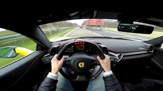 POV Drive: Ferrari 458 Italia 290 km/h on the Autobahn!