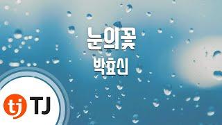 Snow Flower 눈의꽃(미안하다사랑한다OST)_Park Hyo Sin 박효신_TJ노래방 (Karaoke/lyrics/romanization/KOREAN)