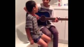 Mom caught her two sons singing Thinking out loud by Ed Sheeran