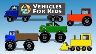 Véhicules Pour Enfants - Tracteur Routier De La Voiture Bulldozer De Bus De La Moto Pour Les Enfants