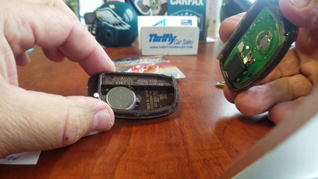 Replacing The Battery On A Key Fob 2015 Hyundai Sonata Youtube