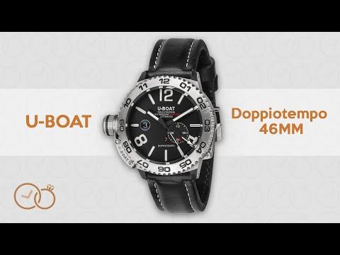 U-Boat Automatic Doppiotempo Watch SS Leather Strap 9099
