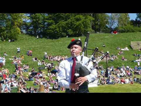 Piper Archie Drennan Solo Piping Competition Highland Gathering Blair Atholl Perthshire Scotland
