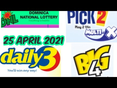 Dominica National Lottery Pick 2/Daily 3/Big 4 Best Number for ( 25 Apr. 2021 ) just try