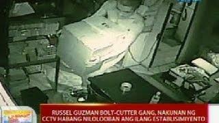 UB: Russel Guzman bolt-cutter gang, nakunan ng CCTV habang nilolooban ang ilang establisyimento
